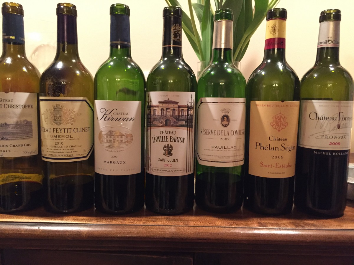 La Cru Wine Club – Bordeaux Night – April 2016